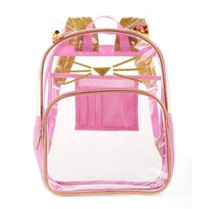 Handbags - Adorable kitty cat clear backpack with cute ears